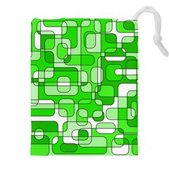 Green Decorative Abstraction  Drawstring Pouches (xxl)