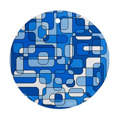 Blue decorative abstraction Ornament (Round)