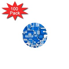 Blue decorative abstraction 1  Mini Magnets (100 pack)