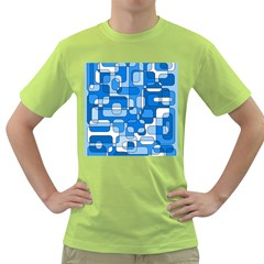 Blue decorative abstraction Green T-Shirt