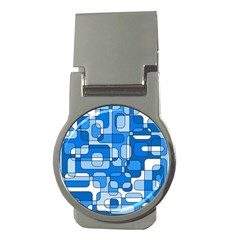 Blue decorative abstraction Money Clips (Round)