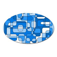 Blue decorative abstraction Oval Magnet