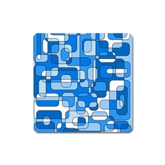 Blue decorative abstraction Square Magnet
