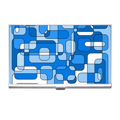 Blue decorative abstraction Business Card Holders