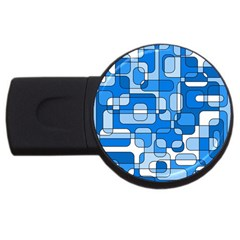 Blue decorative abstraction USB Flash Drive Round (2 GB)