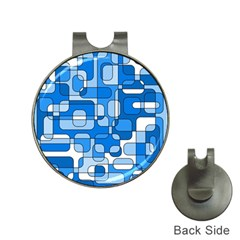 Blue decorative abstraction Hat Clips with Golf Markers