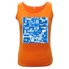 Blue decorative abstraction Women s Dark Tank Top