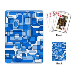 Blue decorative abstraction Playing Card