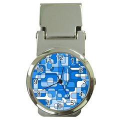 Blue decorative abstraction Money Clip Watches