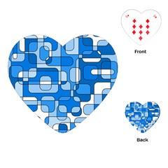Blue decorative abstraction Playing Cards (Heart)