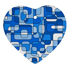 Blue decorative abstraction Heart Ornament (2 Sides)