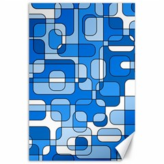 Blue decorative abstraction Canvas 24  x 36