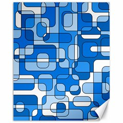 Blue decorative abstraction Canvas 11  x 14