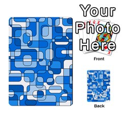 Blue decorative abstraction Multi-purpose Cards (Rectangle)