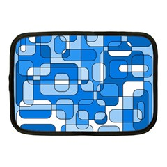Blue decorative abstraction Netbook Case (Medium)