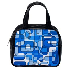 Blue decorative abstraction Classic Handbags (One Side)