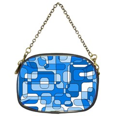 Blue decorative abstraction Chain Purses (Two Sides)