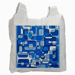 Blue decorative abstraction Recycle Bag (One Side)