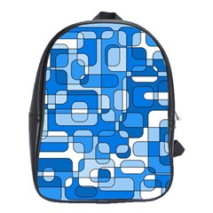 Blue decorative abstraction School Bags(Large)