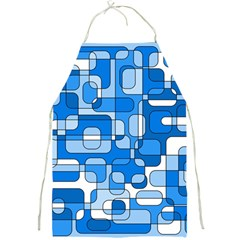 Blue decorative abstraction Full Print Aprons