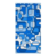 Blue decorative abstraction Shower Curtain 36  x 72  (Stall)