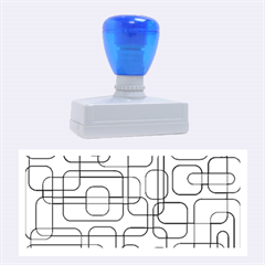 Blue decorative abstraction Rubber Stamps (Large)