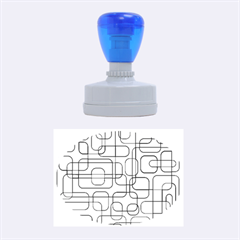 Blue decorative abstraction Rubber Oval Stamps