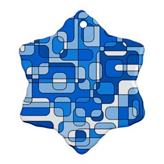 Blue decorative abstraction Ornament (Snowflake)