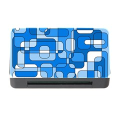 Blue decorative abstraction Memory Card Reader with CF