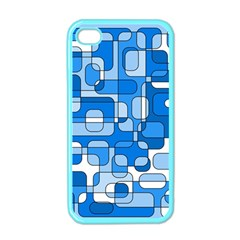 Blue decorative abstraction Apple iPhone 4 Case (Color)