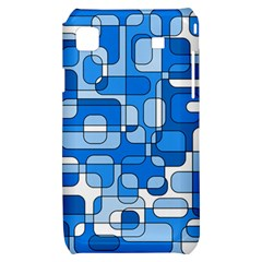 Blue decorative abstraction Samsung Galaxy S i9000 Hardshell Case
