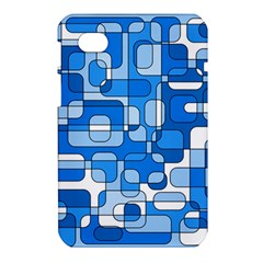 Blue decorative abstraction Samsung Galaxy Tab 7  P1000 Hardshell Case