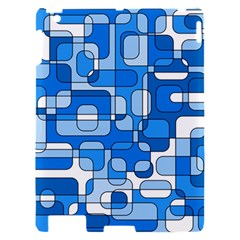 Blue decorative abstraction Apple iPad 2 Hardshell Case