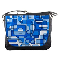 Blue decorative abstraction Messenger Bags