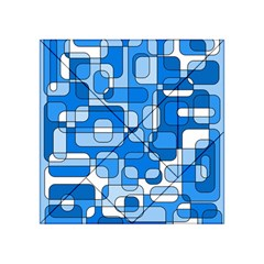 Blue decorative abstraction Acrylic Tangram Puzzle (4  x 4 )