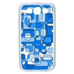Blue decorative abstraction Samsung Galaxy S III Case (White)