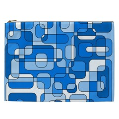 Blue decorative abstraction Cosmetic Bag (XXL)