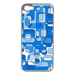 Blue decorative abstraction Apple iPhone 5 Case (Silver)