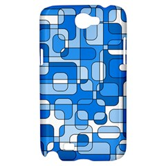 Blue decorative abstraction Samsung Galaxy Note 2 Hardshell Case