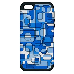 Blue decorative abstraction Apple iPhone 5 Hardshell Case (PC+Silicone)