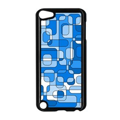 Blue decorative abstraction Apple iPod Touch 5 Case (Black)