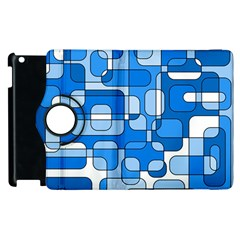 Blue decorative abstraction Apple iPad 2 Flip 360 Case
