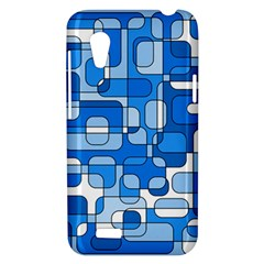 Blue decorative abstraction HTC Desire VT (T328T) Hardshell Case