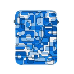 Blue decorative abstraction Apple iPad 2/3/4 Protective Soft Cases
