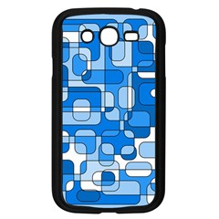 Blue decorative abstraction Samsung Galaxy Grand DUOS I9082 Case (Black)