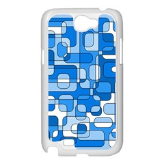 Blue decorative abstraction Samsung Galaxy Note 2 Case (White)