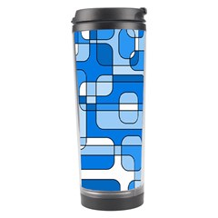 Blue decorative abstraction Travel Tumbler