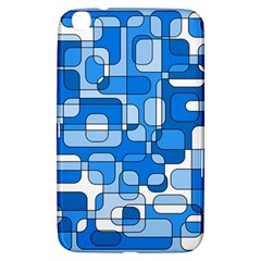 Blue decorative abstraction Samsung Galaxy Tab 3 (8 ) T3100 Hardshell Case