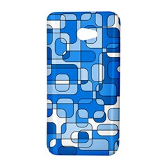 Blue decorative abstraction HTC Butterfly S/HTC 9060 Hardshell Case