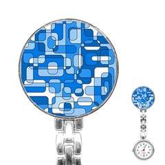 Blue decorative abstraction Stainless Steel Nurses Watch
